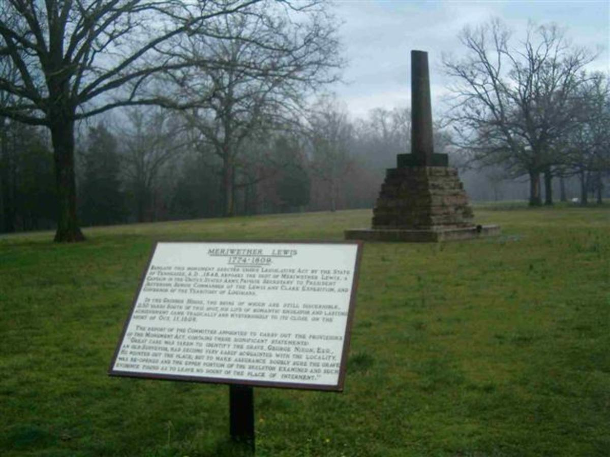 Meriweather Lewis Monument, Hohenwald, Tennessee
