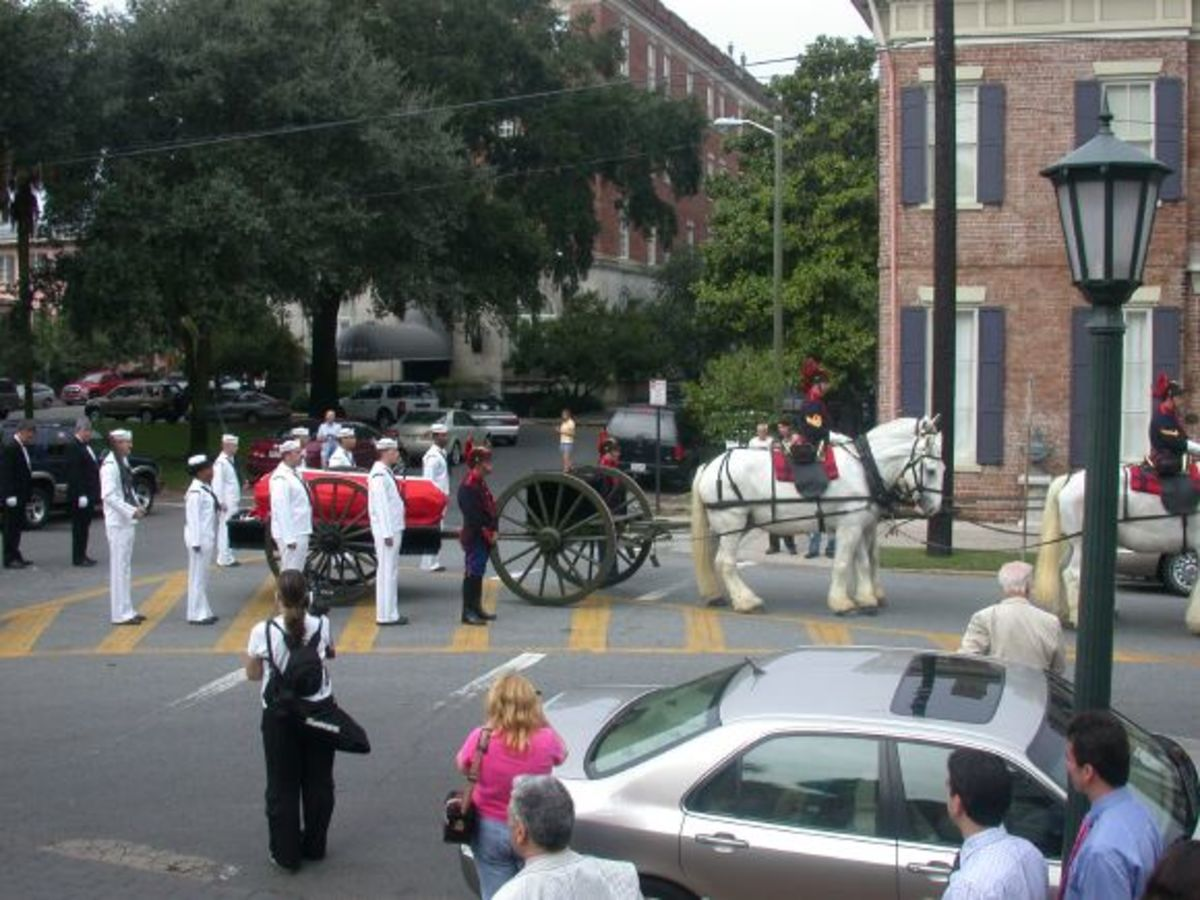 Funeral Caisson with Pulaski's Casket arrives at the Cathedral of St. John the Baptist, 2005