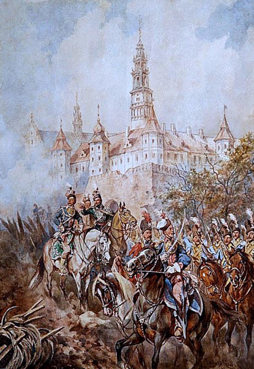 Pulaski at Częstochowa's walls by Juliusz Kossak, circa 1880.
