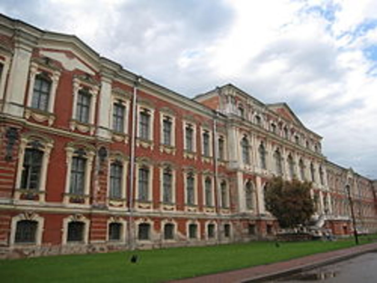 Restrelli Palace of the court of Duke of Courland, in what is now Jelgava, Latvia.