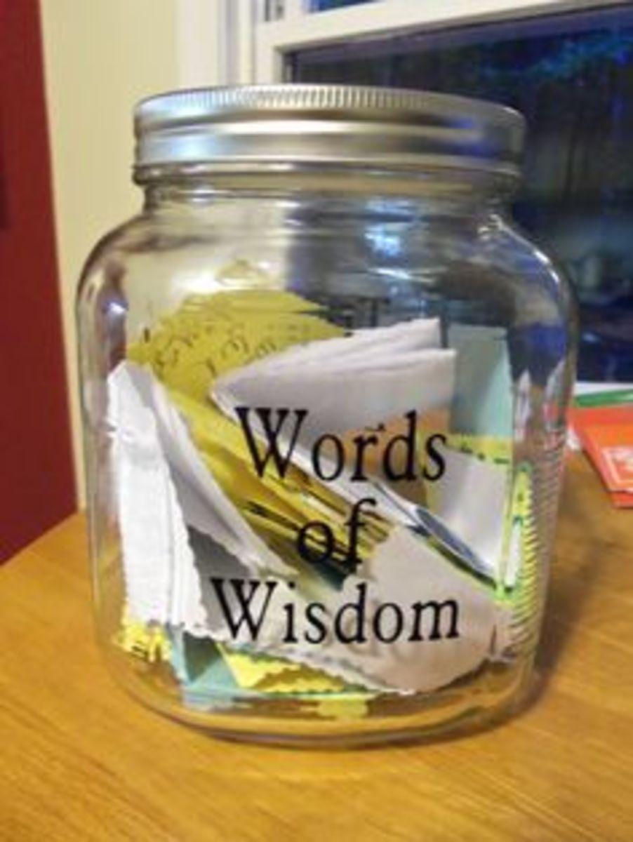 Words of Wisdom Jar