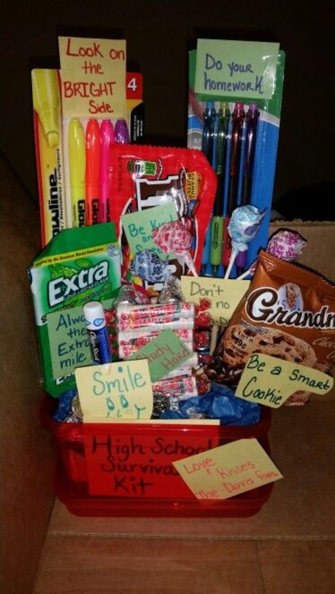 High School Survival Kit | DIY Graduation Party Ideas for High School