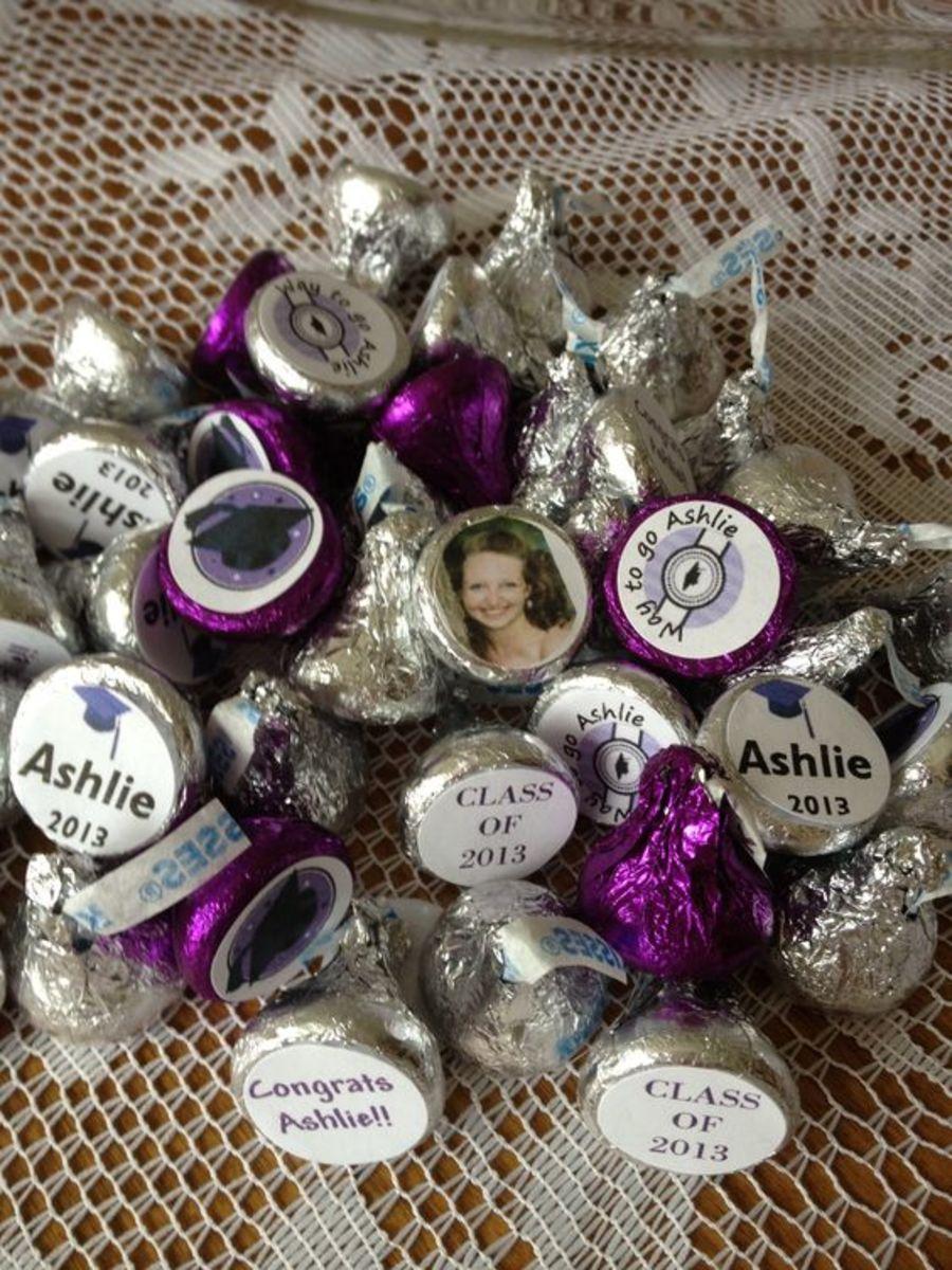 Customized Kisses | DIY Graduation Party Ideas for High School