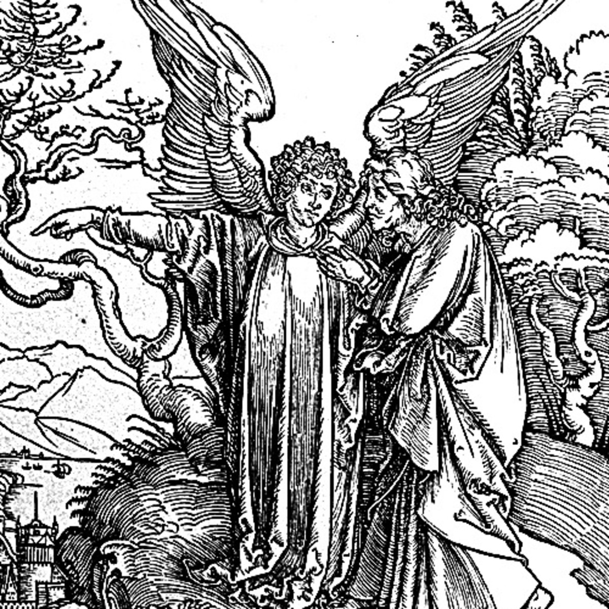 "Here we show another portion of ""The Angel with the Key to the Bottomless Pit"" by Albrecht Durer."