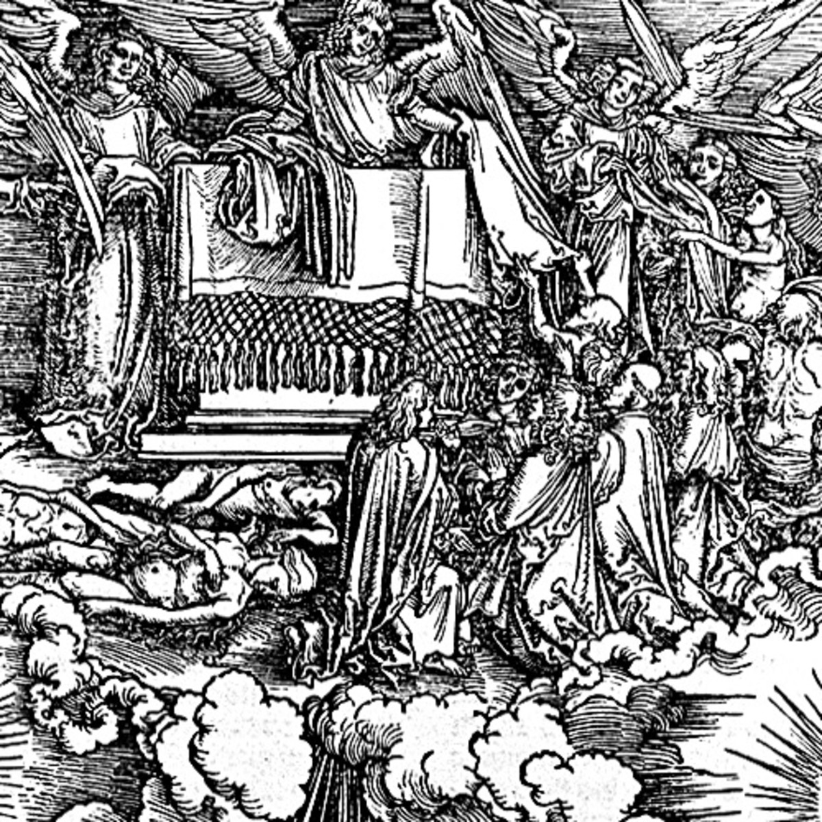 "Here we show a portion of 'Opening the Fifth and Sixth Seals' - the fifth Woodcut from the suite by Albrecht Durer known as ""The Apocalypse""."