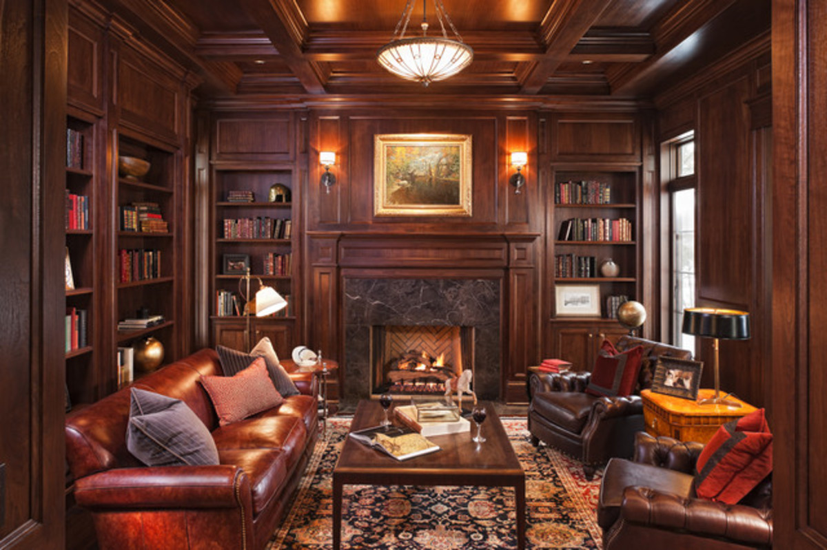 Beautiful and Inviting Traditional Wood Paneled Room