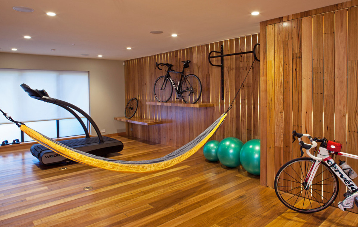 Wood Flooring - Wood Walls and a Hammock Too!