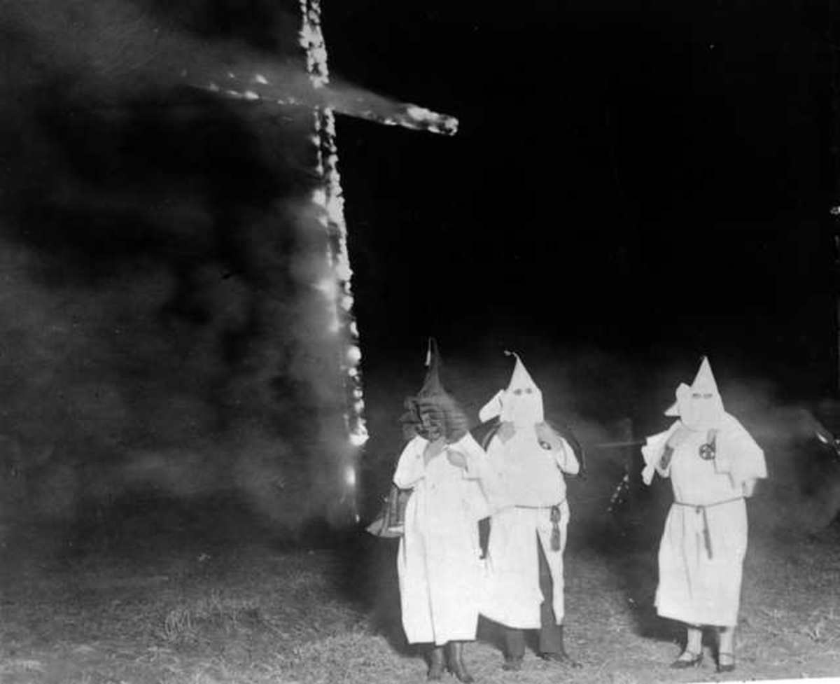 Ku Klux Klan Cross Burning