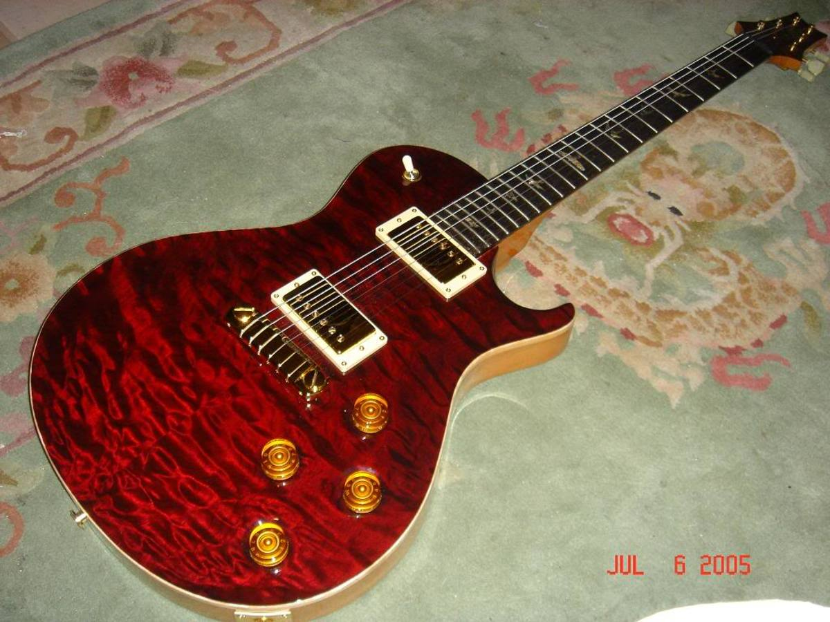 Just look at the beauty of the figured maple top on this PRS Singlecut.