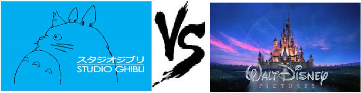 Disney (Not Pixar) battles the smaller Studio Ghibli.