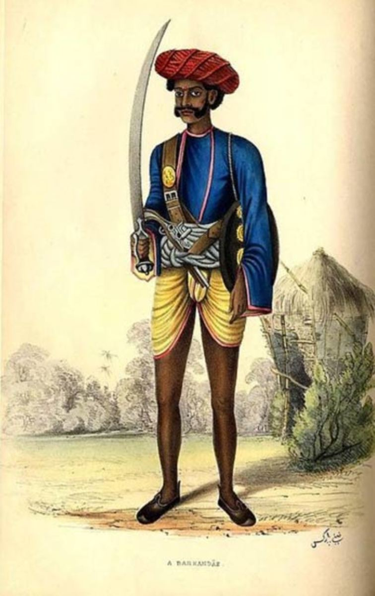 Hindu warrior with sword
