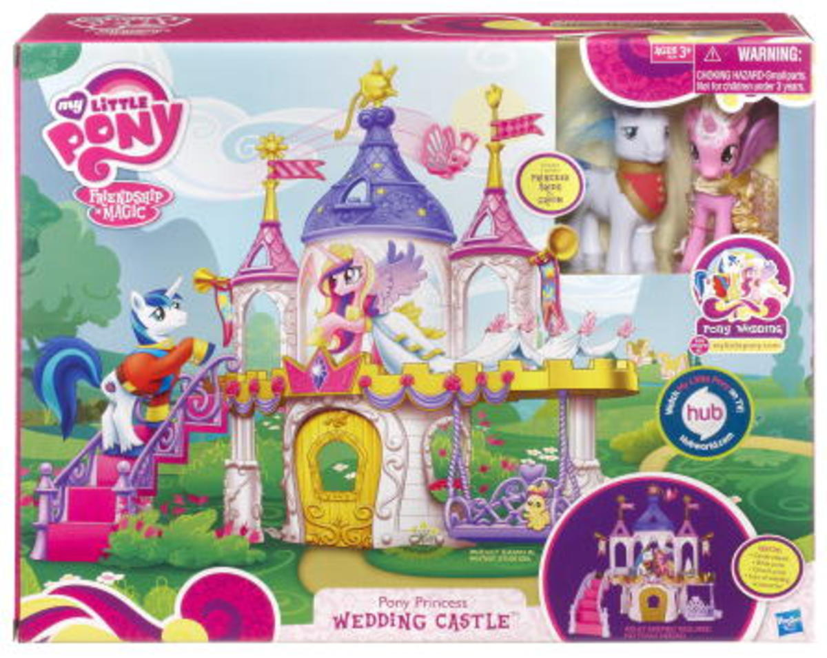 Pony Princess Wedding Castle. One of the earliest toys introducing Shining Armor and Princess Cadence. Arguably the two most divisive characters introduced in this show.