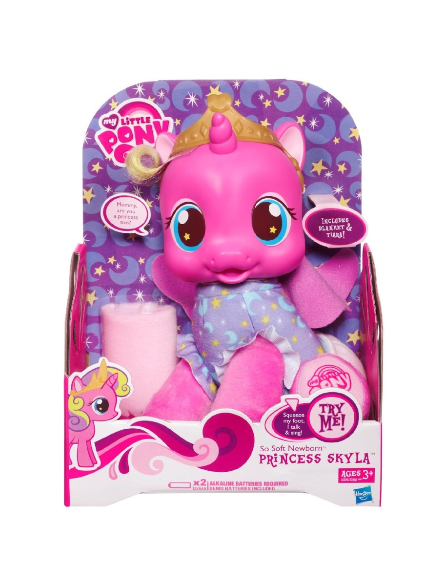 A toy of the newly introduced Alicorn Princess Skyla. Fortunately, not the canon name for the newset Alicorn in My Little Pony: Friendship is Magic. Yet.