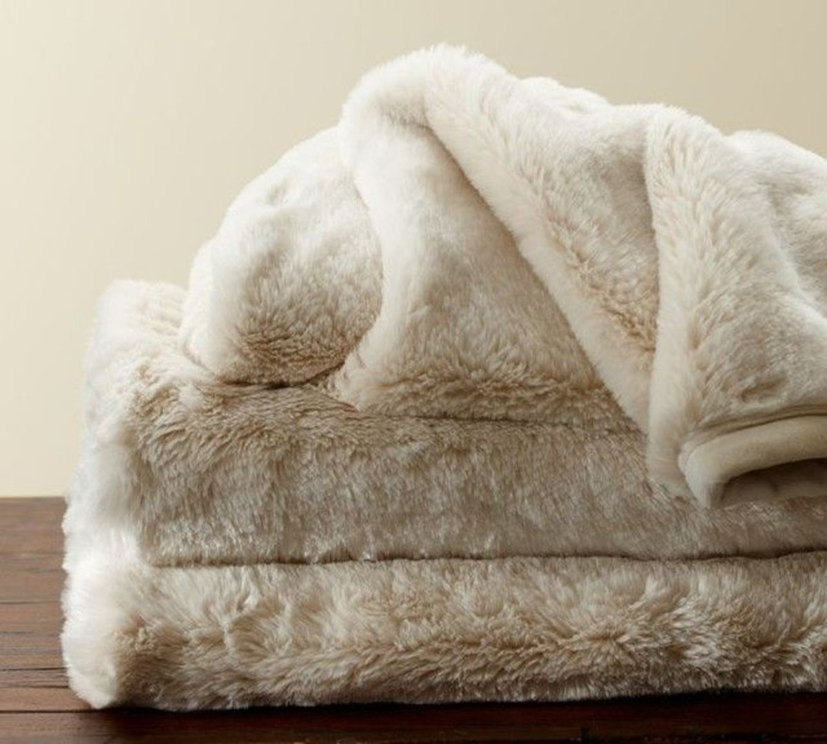 Get cozy with a soft blanket.