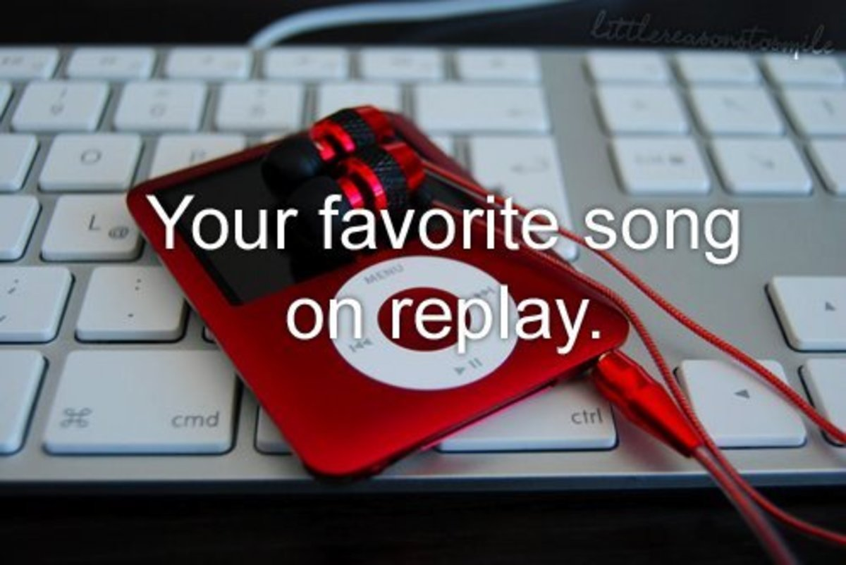 Listen to your favorite song on repeat.
