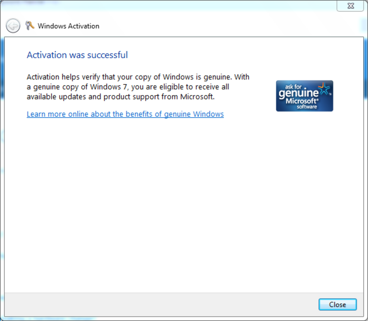 windows 7 not activating online
