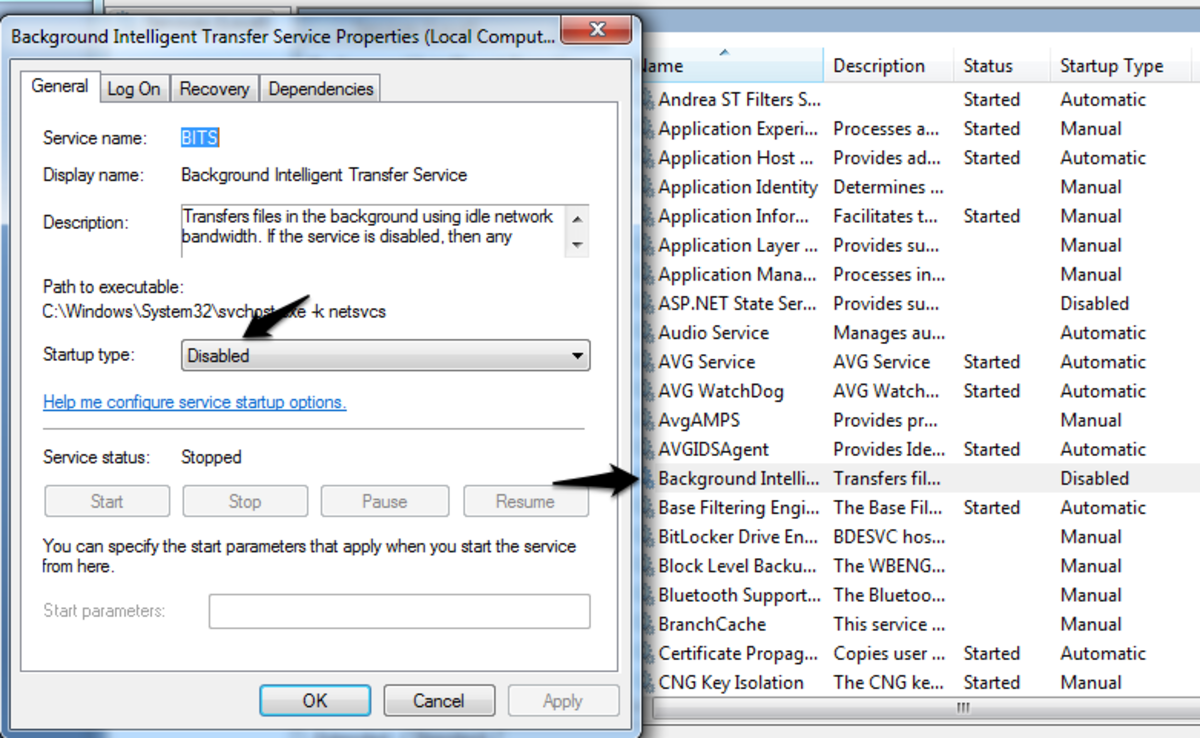 Disabling Background Intelligent Transfer and Windows Update services will keep hactivation active in client computer