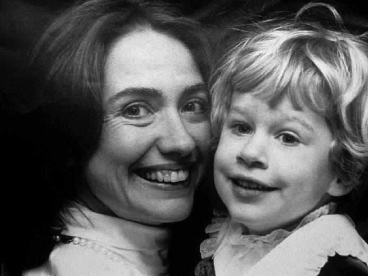 Hillary's imperfect teeth.