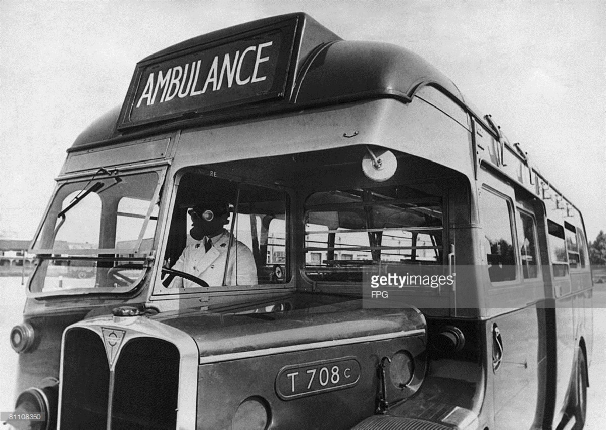 Joyce Green hospital ambulance converted from a Green Line coach