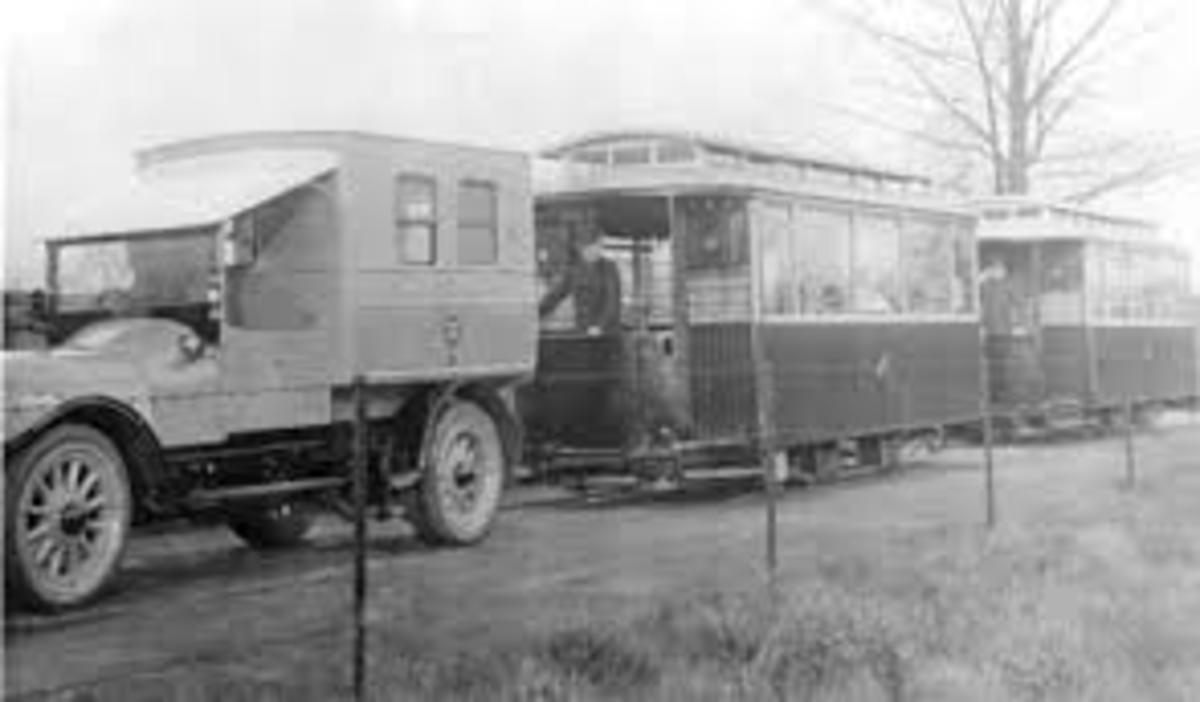 Joyce Green motor pulled ambulance trams