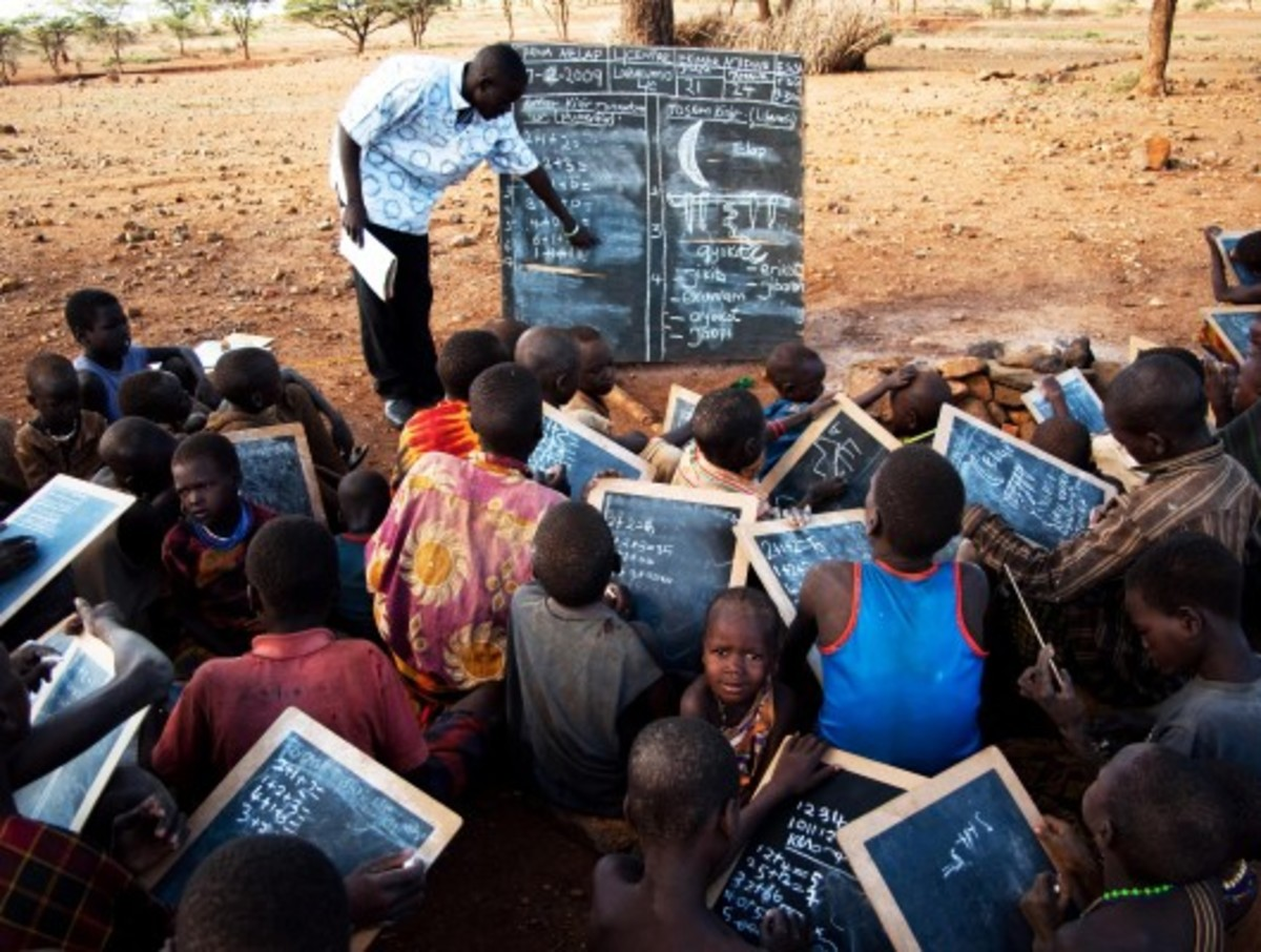 When their Peers Are Using Laptops and Smart Phones and Tabs, Children in Africa Are still Using Slates, Today In The Technological Era... No Classroom to Speak Of...