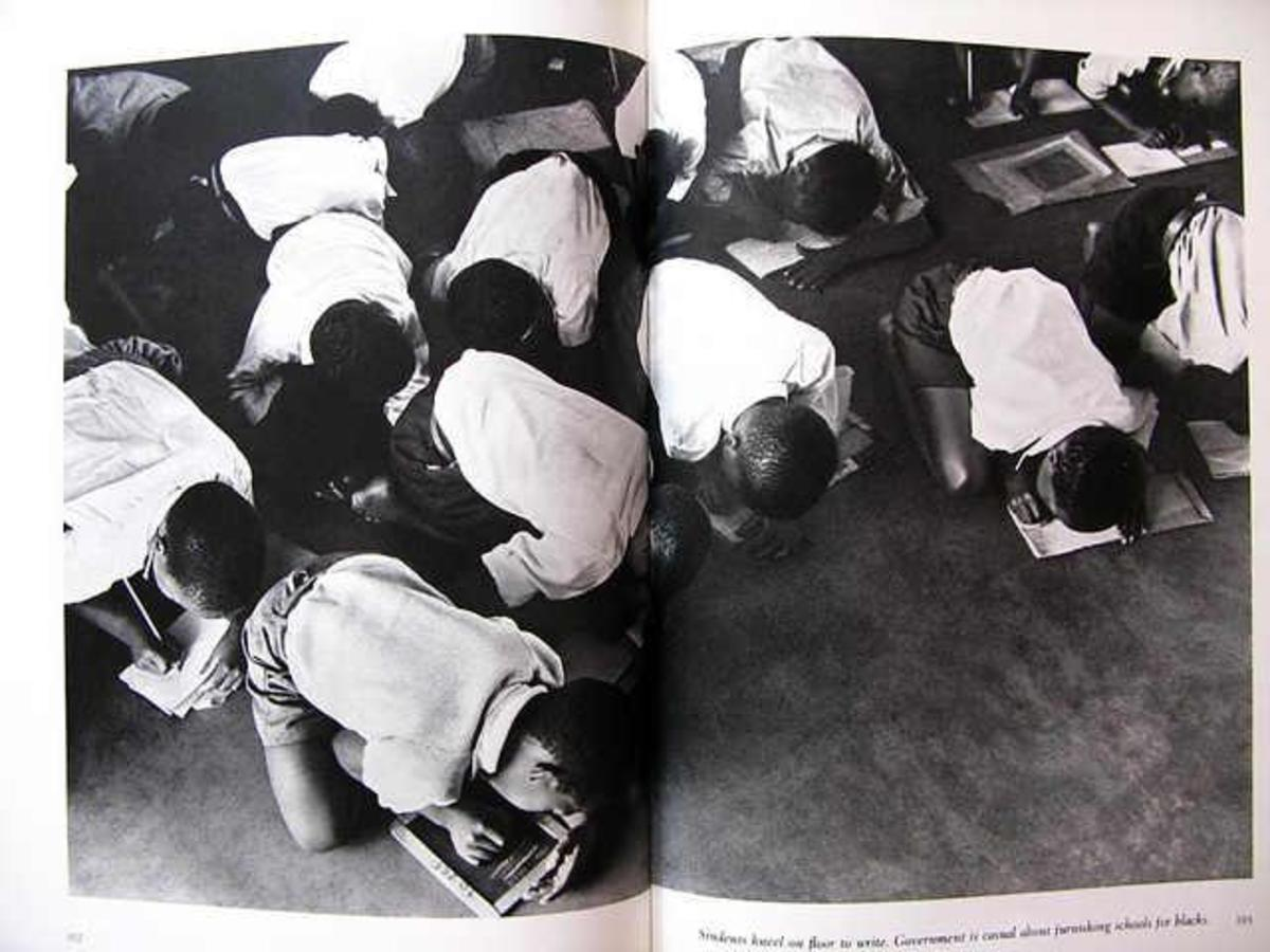 No Desks, So Kids Write On The Floor During Apartheid Era In The 1950s and 1960s