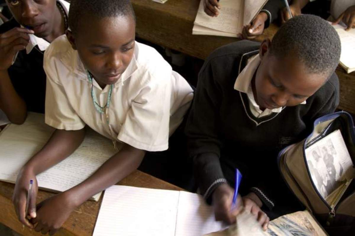 Children Learning In School In Africa-Uganda...