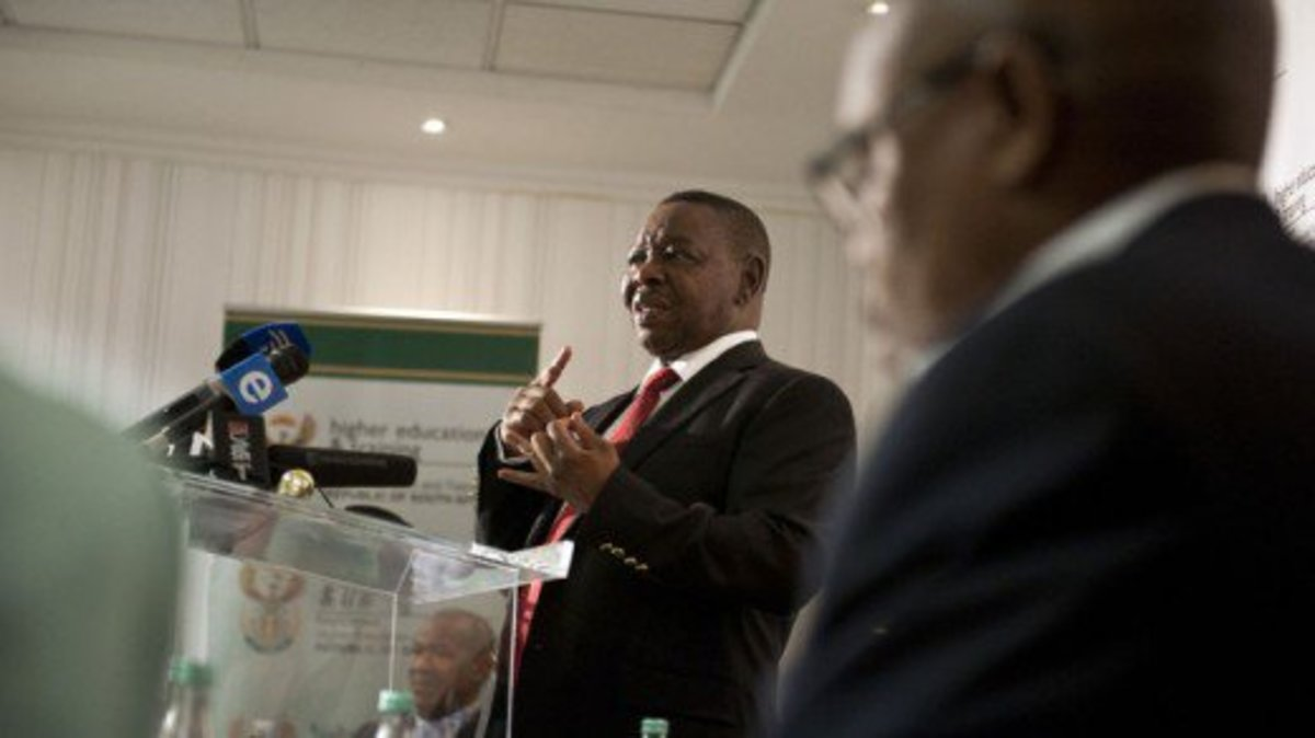 Minister of Higher Education and Training, Blade Nzimande Source: Madeleine