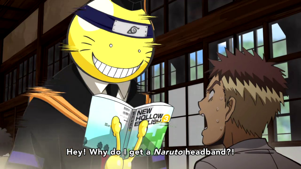 Reference to Naruto.