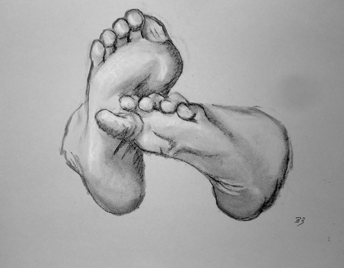 Drawing Feet for an Exercise