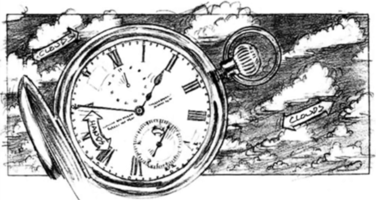 Concept art of Serge's watch.