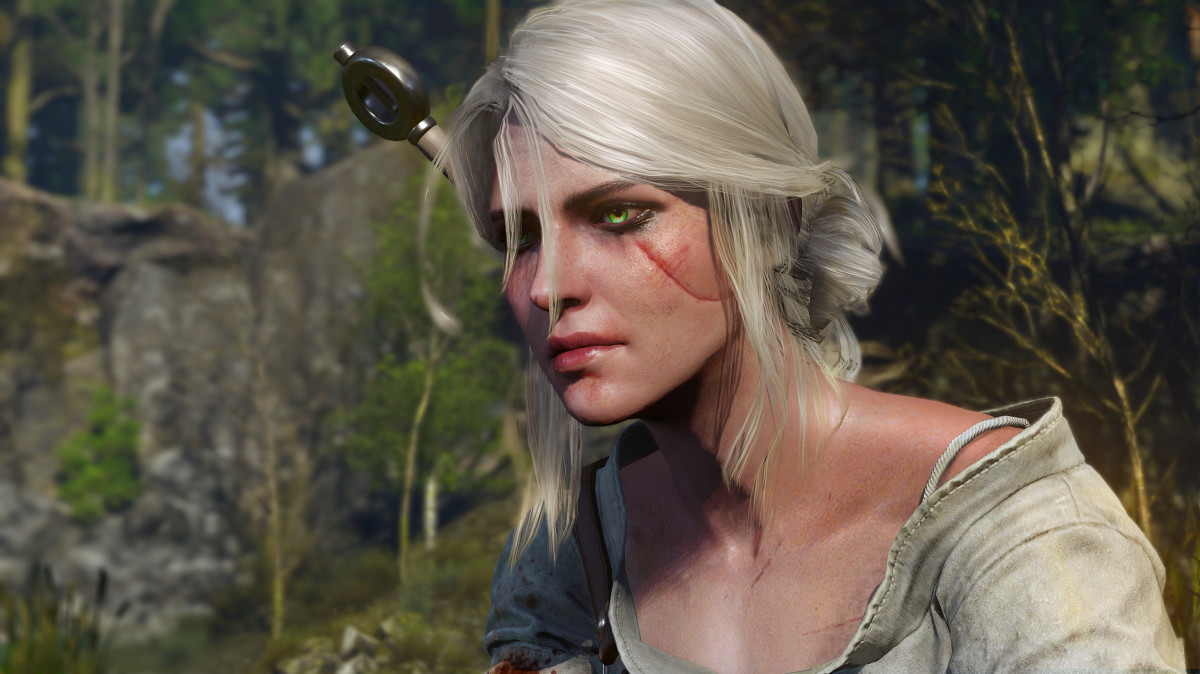 Ciri as she appears in Witcher 3: Wild Hunt.  Don't worry, you'll hear all about that facial scar, several times.