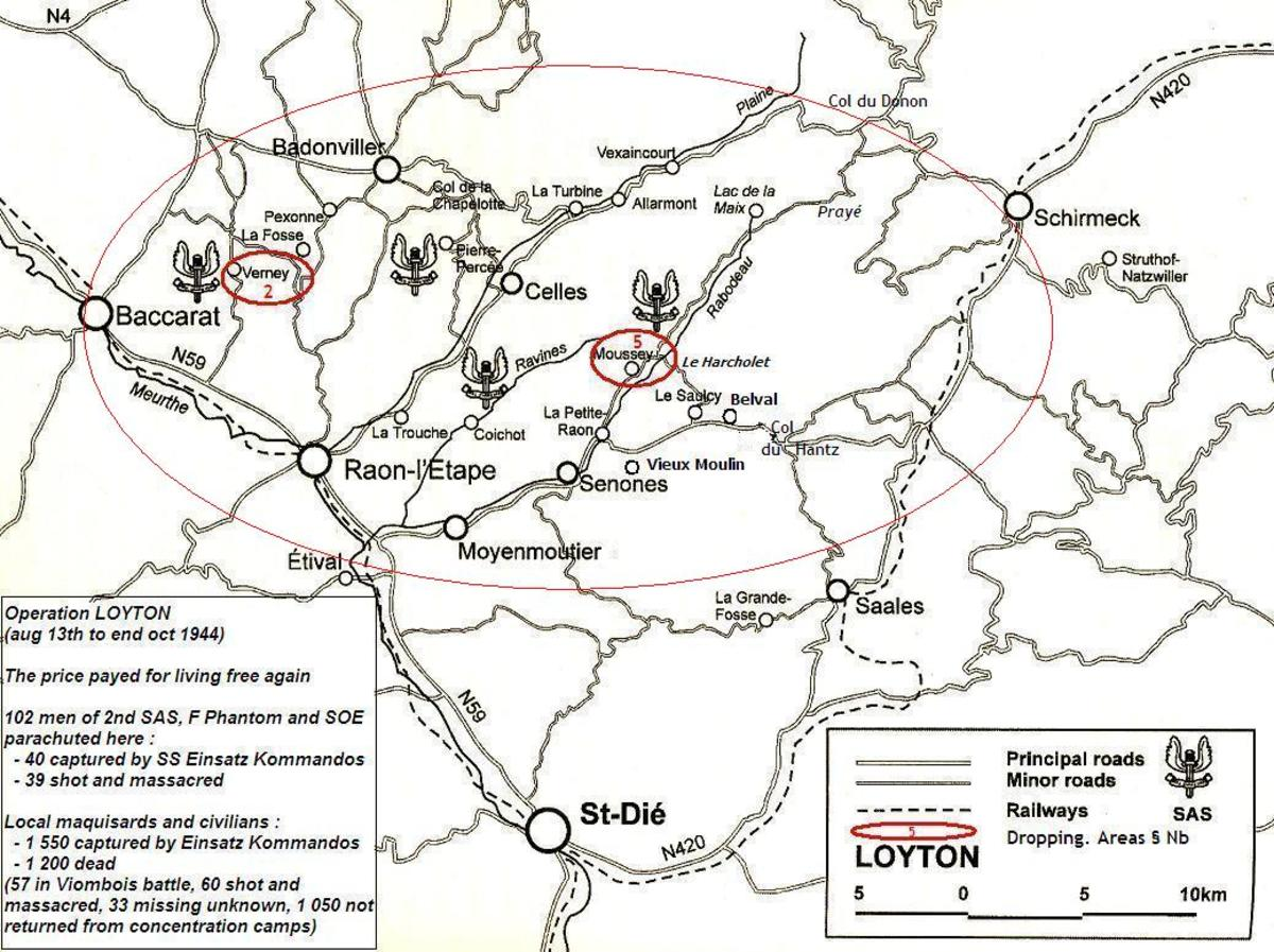 The area of operation in which the SAS were to create their disturbance. Unluckily, due to faulty intelligence the men were dropped into the middle of an area held by the Panzer corps