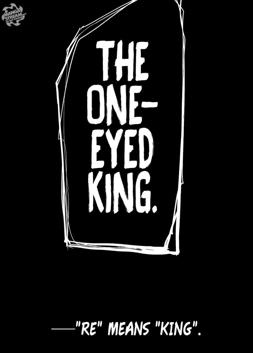 Kaneki claiming the title of the One-Eyed King.