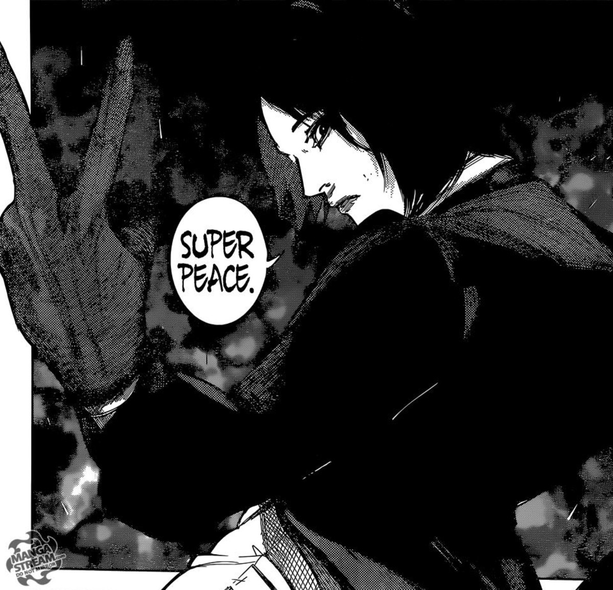 "Furuta saying he is after ""super peace""."
