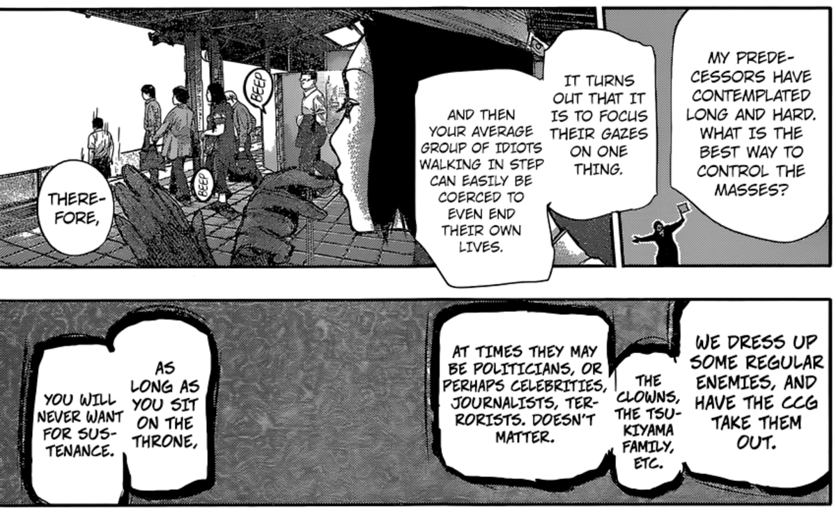 Furuta talking about how the Washuu control masses.