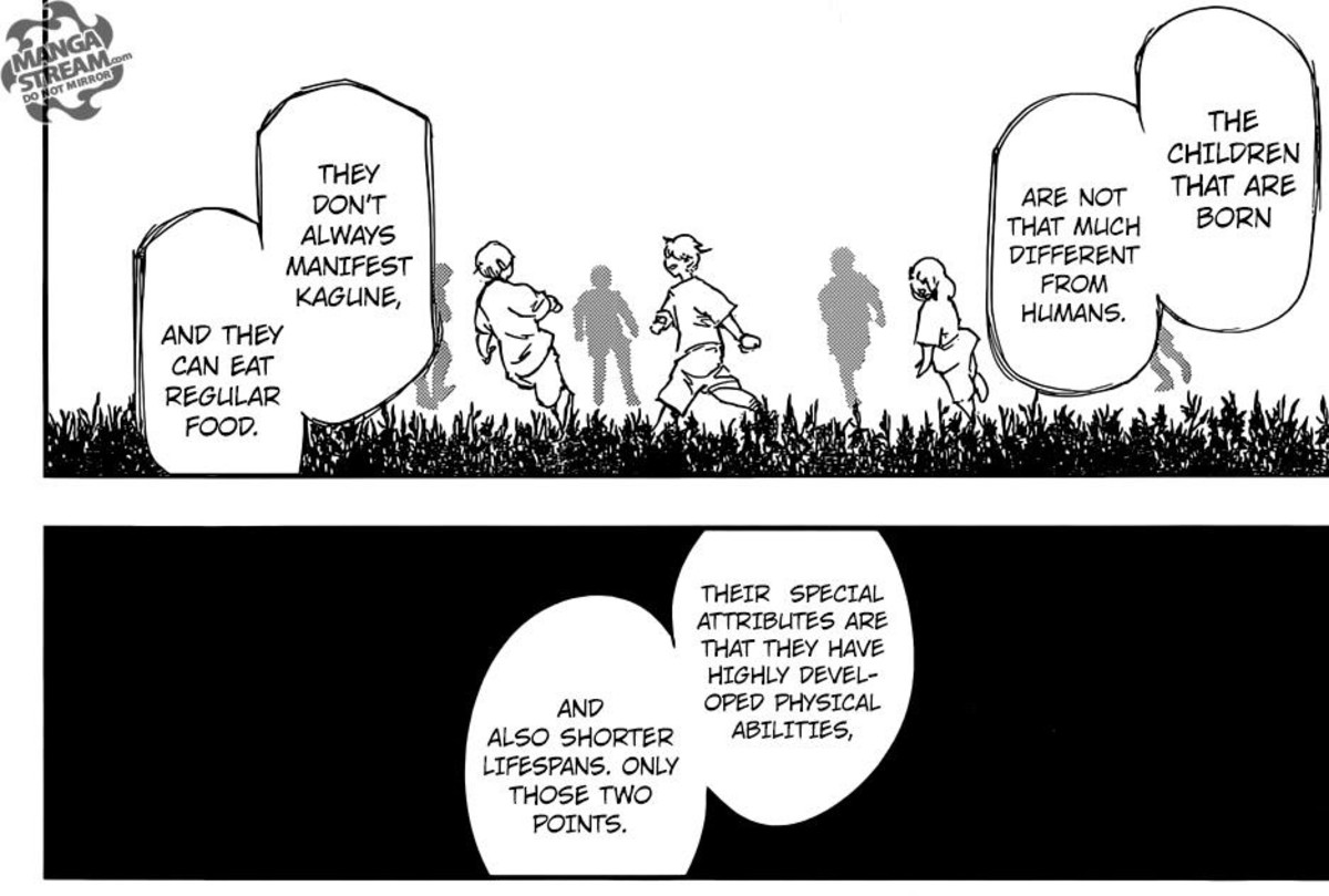 Arima talking about Half-Humans.