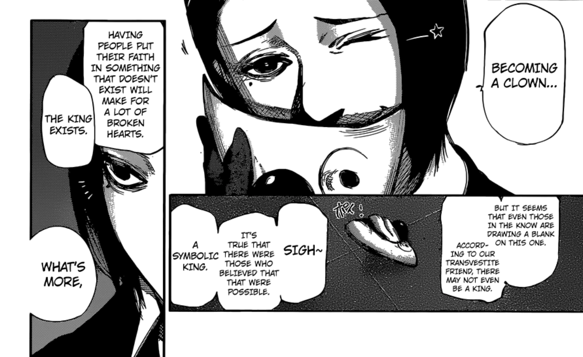 Furuta questioning the existence of the One-Eyed King.