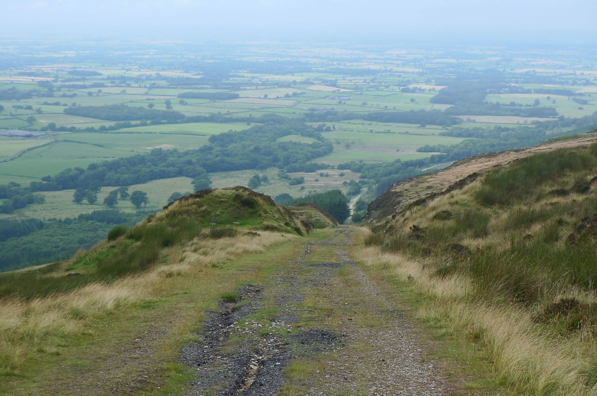 Ingleby Incline now, looking down over the northern rim of the Cleveland Hills towards the Stokesley plain
