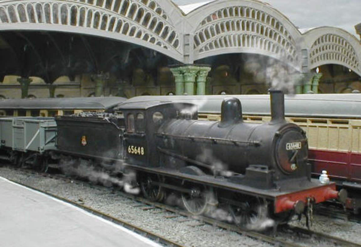 Class P1 4mm completed George Norton scale kit in BR Livery - looks convincing, doesn't it, with the steam rising. Look closer and you'll see it is a model currently @ £119 through e-bay