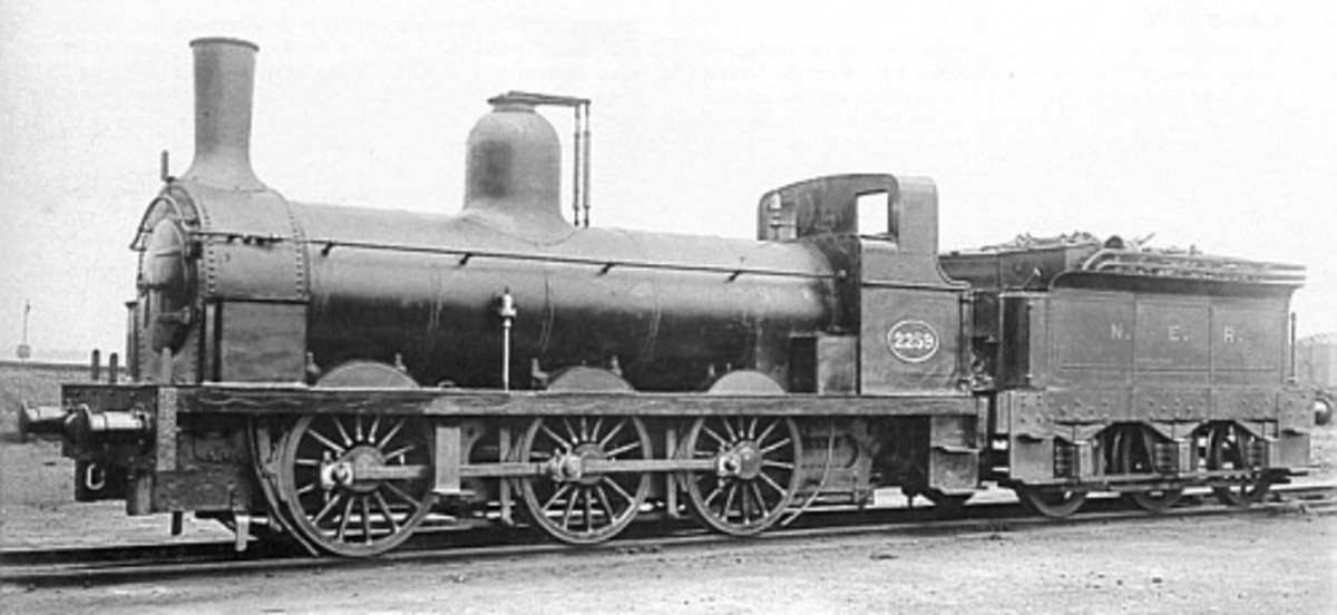 No. 2259, one of the 0-6-0 tender engines of Bouch's Stockton & Darlington Rly. Class 1001 that took mineral trains from Battersby to Teesside's works (the S&DR was absorbed by the NER in 1863)