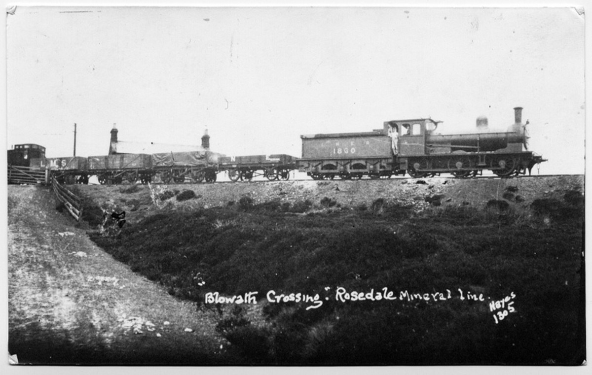 Class P in LNER days was J24, renumbered to 1860 - here at Blowath Crossing with a goods train for Rosedale