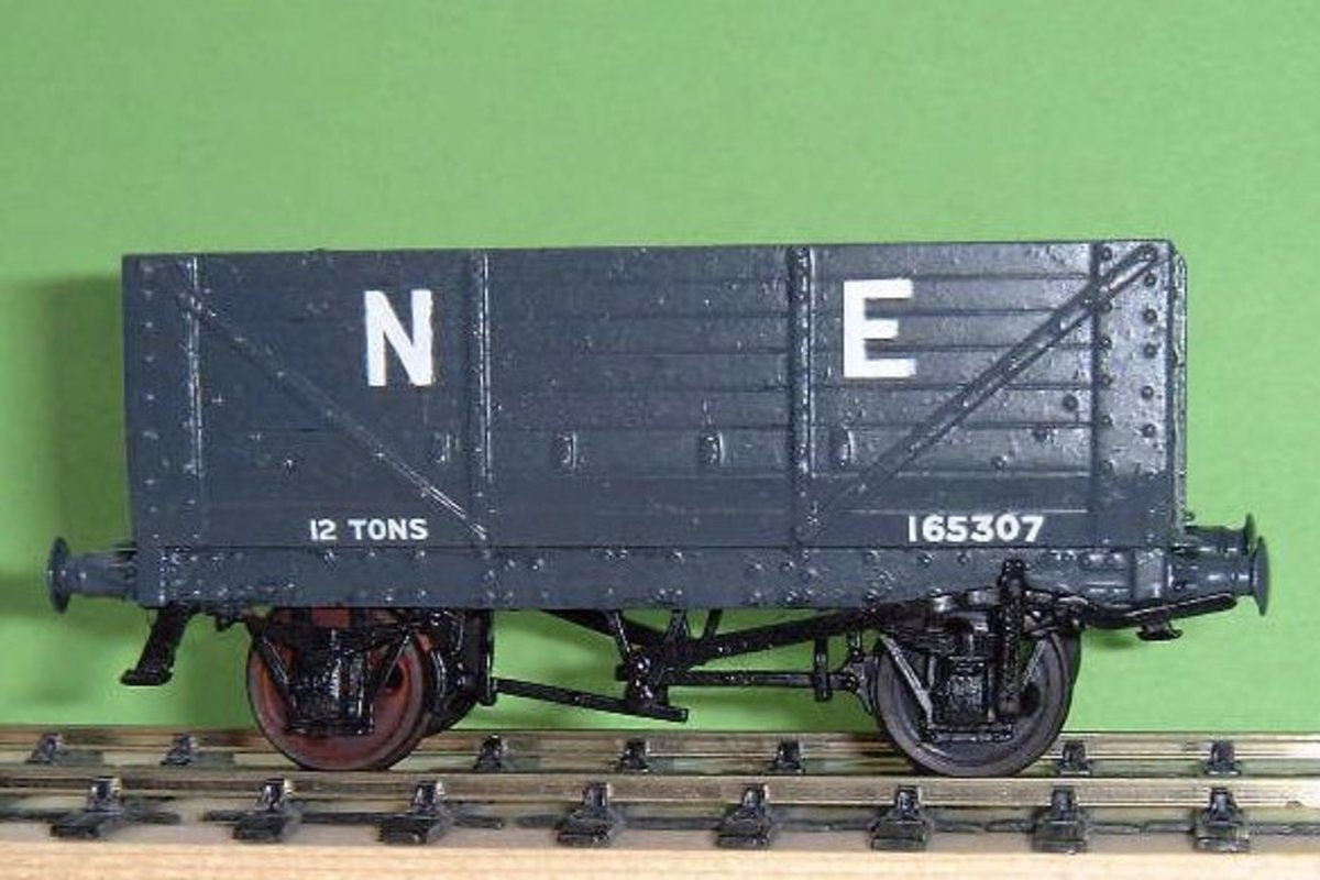 E/020 Diag P4 NER Mineral Hopper wagon in 4mm.- more affordable than the other products shown below
