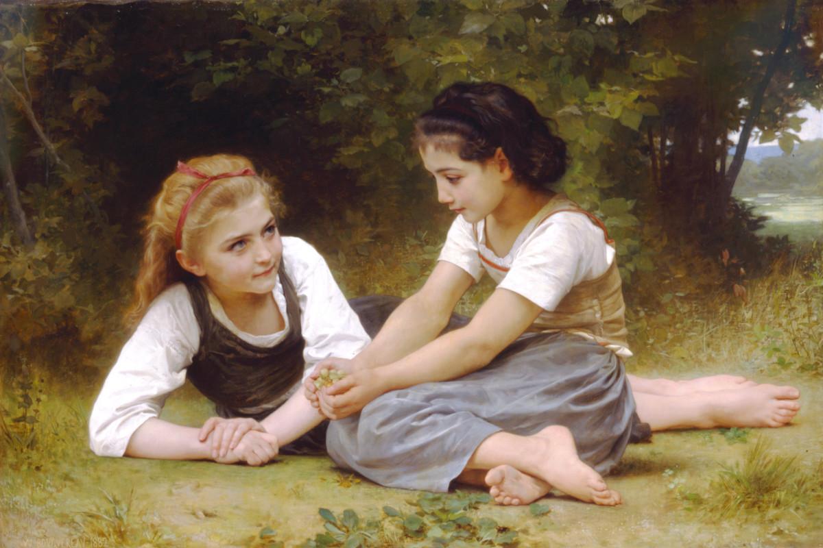 William-Adolphe Bouguereau (1825-1905) - The Nut Gatherers (1882)