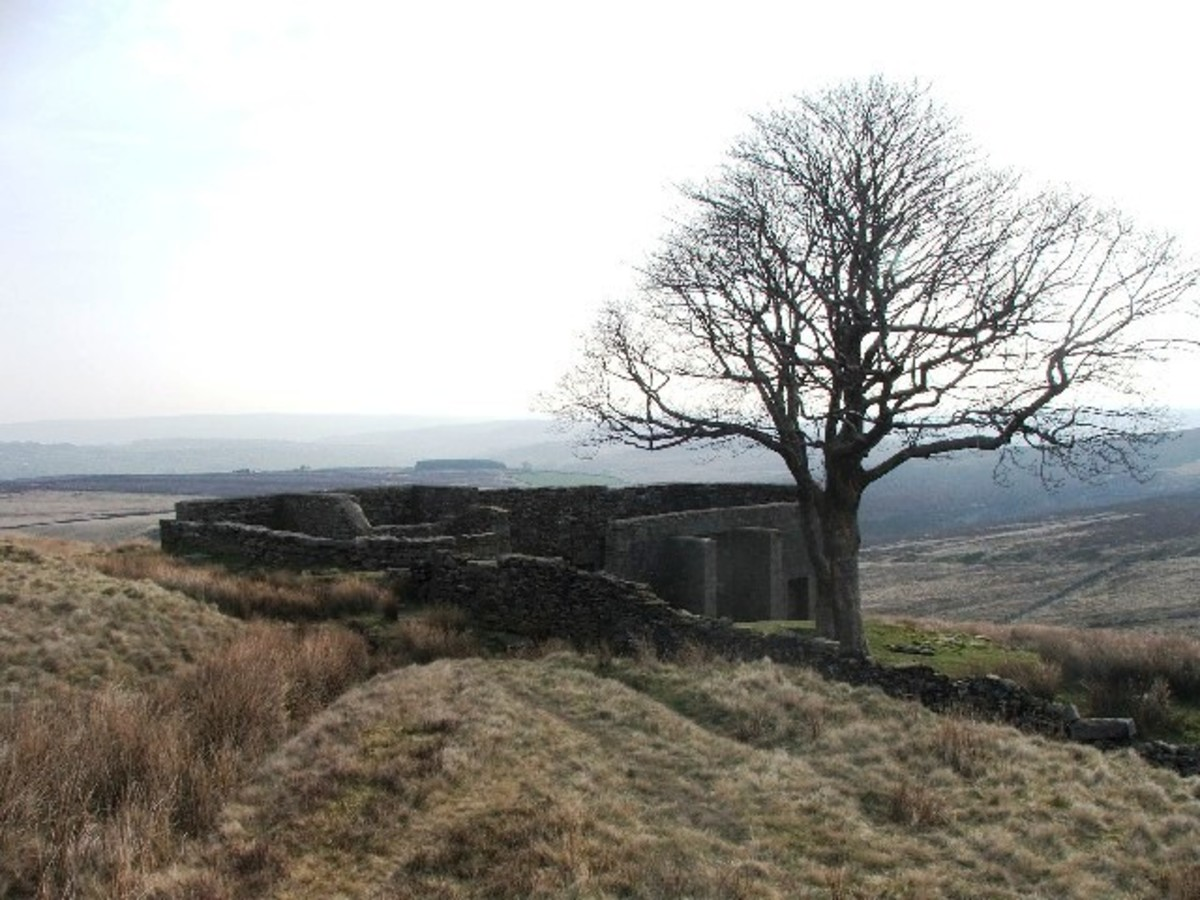 This remote location is believed to have been Bronte's inspiration for the setting for the Wuthering Heights farmhouse.