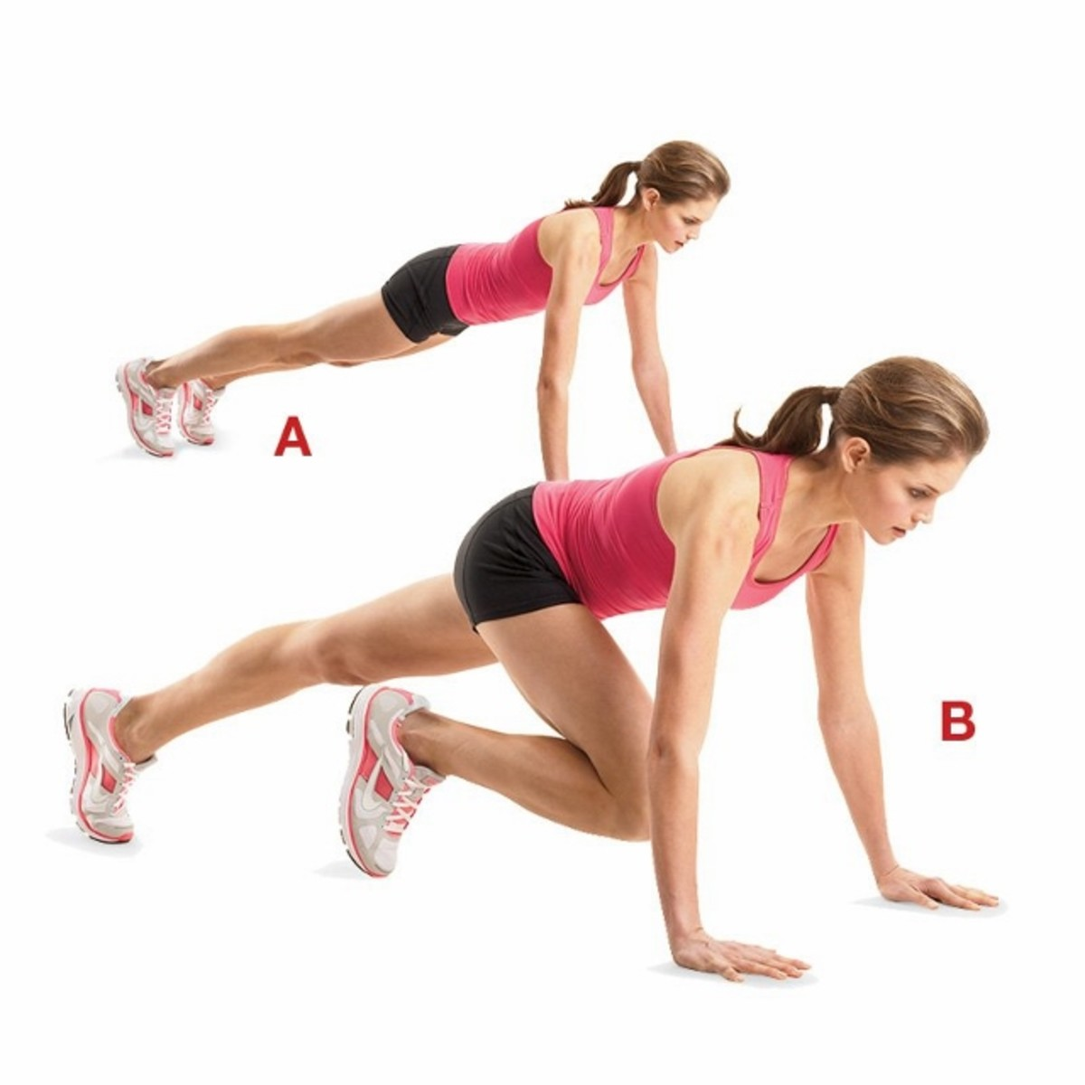 Slow Motion Mountain Climber: A core exercise designed to improve stability while transferring power from leg-to-leg.