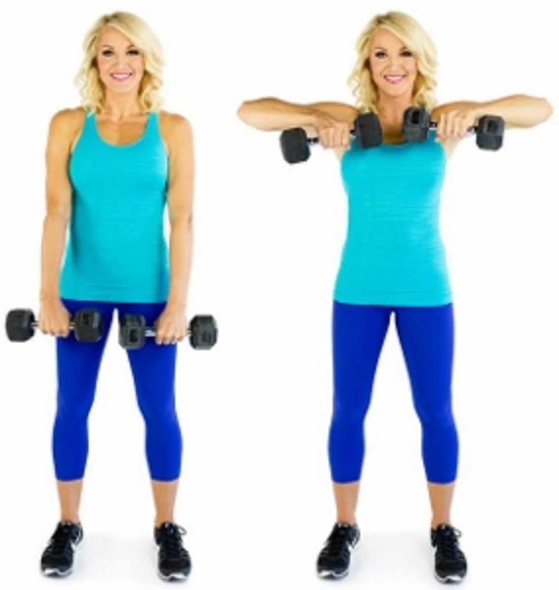 Upright Row: A general strength movement which develops the trapezius and deltoids.