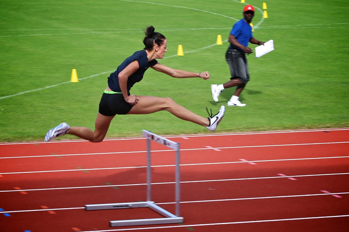 Georganne Moline of the United States competed in the 400m Intermediate Hurdles finals at the 2012 Summer Olympics.