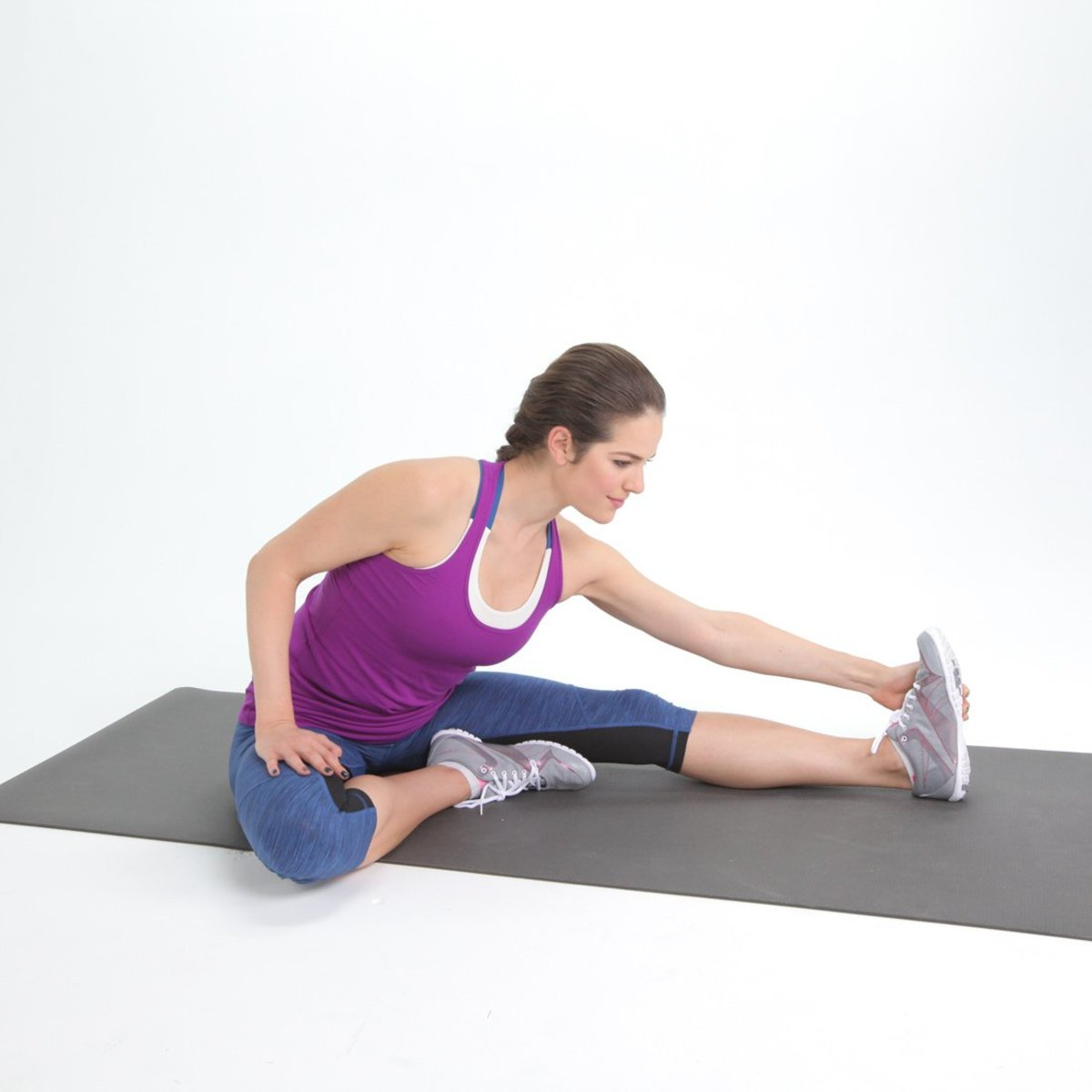 Hurdler Stretch: Stretches the hamstring muscles.
