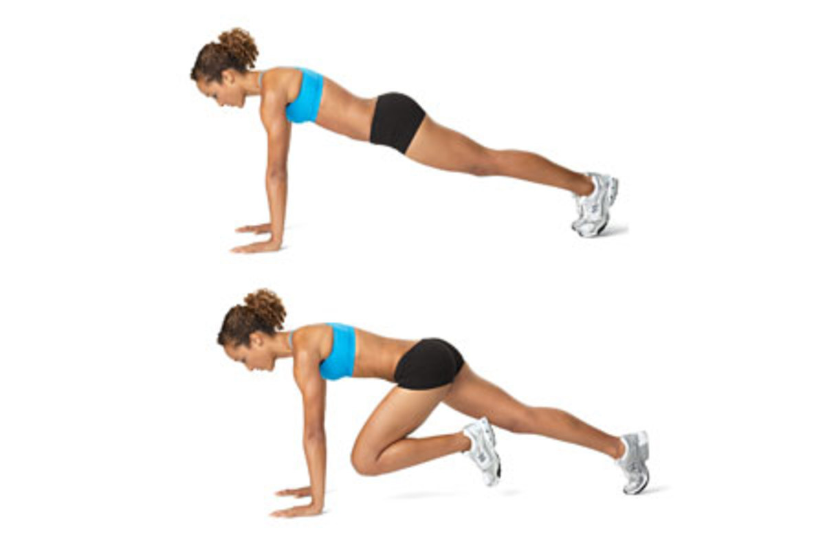 Mountain Climber: Another core exercise which also conditions the hip extenders and flexors.